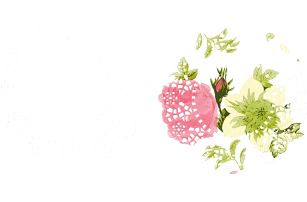 Sada 100 papírových podtácků Floral