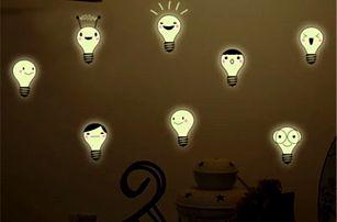 Fluorescenční samolepky - Žárovky - dodání do 2 dnů