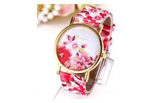 Dámské hodinky s květinami - skladovka - poštovné zdarma