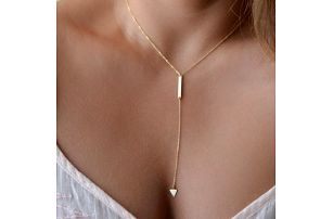 Dámský náhrdelník s trojúhelníkem - dodání do 2 dnů