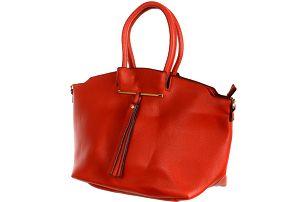 Velice módní dámská kabelka červená