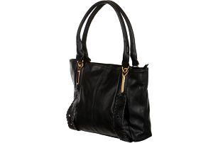 Dámská zdobená kabelka přes rameno černá
