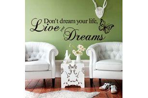 Samolepka na zeď - Žij své sny - dodání do 2 dnů