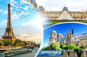Francie, Paříž: 4denní zájezd pro 1 osobu vč. 1 noci** se snídaní, průvodce a dopravy z Prahy