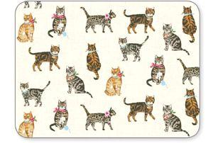 Sada 4 prostírání Cats on Parade