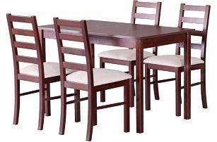 Zátěžový jídelní set 4+1 STRAKOŠ-IV vhodný do restaurací i domácností