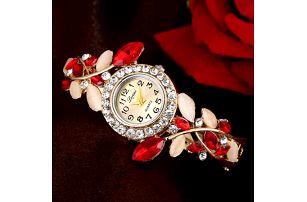 Dámské hodinky s bohatým kamínkovým páskem