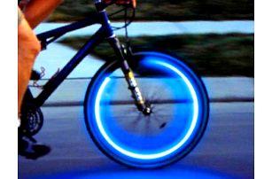 Svítící ventilky 2ks - modrá