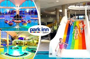 Neomezený wellness s polopenzí v hotelu Park Inn ve vyhledávaných termálních lázních Sarvar