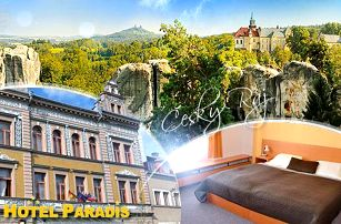 Český Ráj, Hotel Paradis*** na 4 dny pro 2 osoby včetně snídaně či polopenze + moučník a káva!