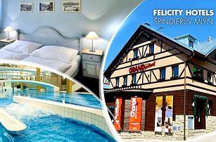 Krkonoše, Špindlerův Mlýn až na 8 dní pro dva v 4* hotelu + snídaně, sauna a Vodní ráj