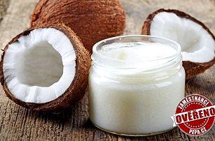 100% kokosový olej s všestranným využitím v kuchyni i domácnosti 1 litr