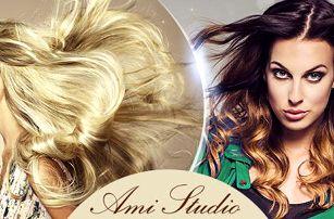 Kadeřnický balíček pro všechny délky vlasů: mytí, střih, foukaná + barvení či ombré hair