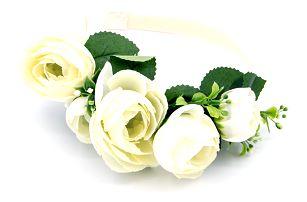 Fashion Icon Čelenka do vlasů svatební růže