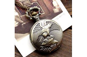 Klasické kapesní hodinky s motivem orla - dodání do 2 dnů