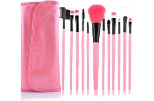 Sada růžových kosmetických štětců - 12v1 - dodání do 2 dnů