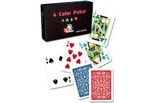 Modiano RAMINO 4 COLOR 31307 100% plastové karty 2 rohy