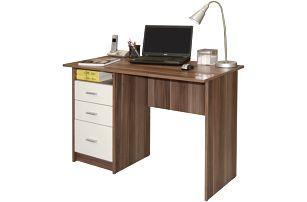 Psací stůl se šuplíky SIMON, švestka/bílá