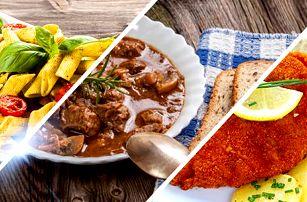 Polední obědové hotovky v Jídelně u Bradů: 200g porce dle výběru z menu pro 1 osobu