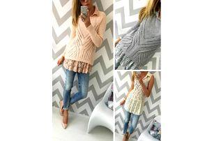 Dámský svetřík a krajková tunika Izabella