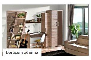 Elegantní nábytek do pracovny Diandra v dekoru dubu nelson - DOPRAVA ZDARMA!
