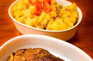 2 kg pečené krkovice a šťouchané brambory