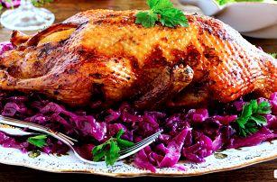 Voňavá kachnička a salát s jatýrky pro dva