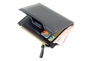 Pánská peněženka se zipem - černá - dodání do 2 dnů