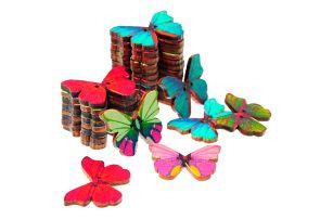 Knoflíky ve tvaru motýlků - 50 kusů v balení - dodání do 2 dnů