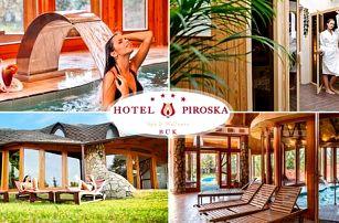 4* Hotel Piroska ve světoznámých lázních Bük s polopenzí a neomezeným wellness pro 1 osobu