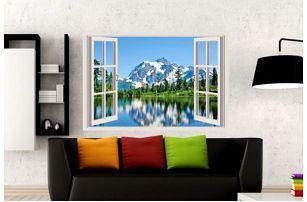 Samolepka na zeď - Výhled na hory - poštovné zdarma
