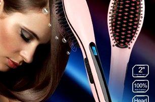 Unikátní digitální antistatický kartáč s žehličkou na vlasy s LCD displejem. Poštovné zdarma.