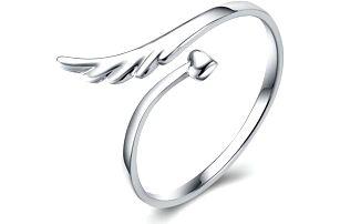 Prsten pro ženy - srdce a křídla - dodání do 2 dnů