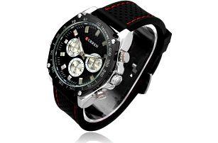 Pánské hodinky Curren s ciferníkem v černé barvě - dodání do 2 dnů