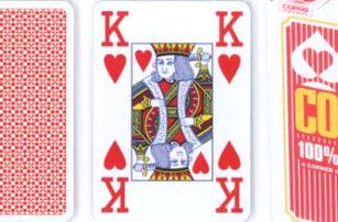 Copag 2073 Poker karty Copag Jumbo 4 rohy Red