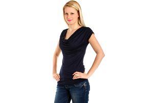 Krásné elegantní tričko tmavě modrá