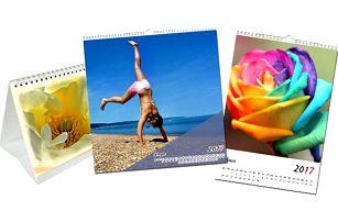 Originální kalendář z vašich vlastních fotografií ve třech provedeních