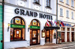 3denní pobyt pro 2 s polopenzí v Grand Hotelu Černý Orel v Jindřichově Hradci