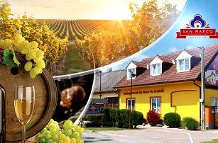 Jižní Morava - Mutěnice, 3-4 dny pro dva včetně snídaně a lahve vína + možnost degustace