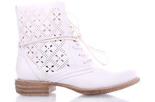 Bílé kotníkové boty 67002-2WH 37