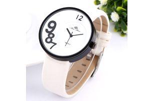 Extravagantní hodinky pánské/dámské - bílá - dodání do 2 dnů