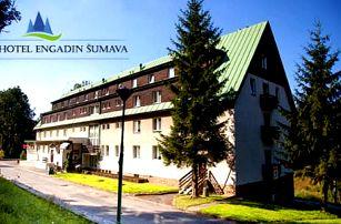 Šumava pro dva v Hotelu Engadin s polopenzí, saunou a dítětem do 12 let ZDARMA