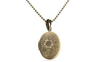 Vintage náhrdelník s medailonem pro fotografii - poštovné zdarma