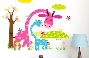 Dětská samolepka na zeď - Žirafky