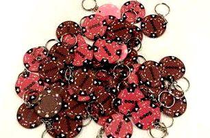 Tuin 6374 Pokerový přívěšek 48 ks hnědá/růžová