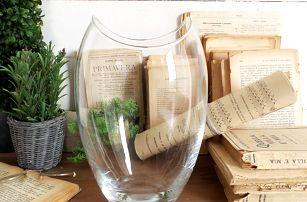 Skleněná váza Denis