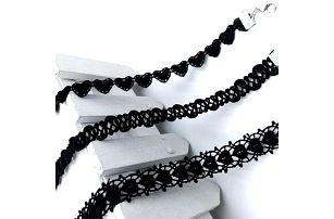 Černý choker náhrdelník Romantic