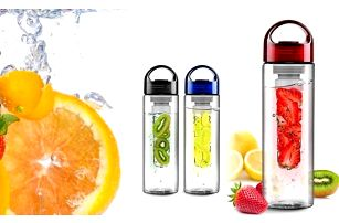 Láhev na vodu s difuzérem na ovoce