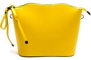 Kožená kabelka Gloria, žlutá - doprava zdarma!