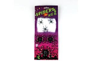Sada pavouků se sítí Halloween